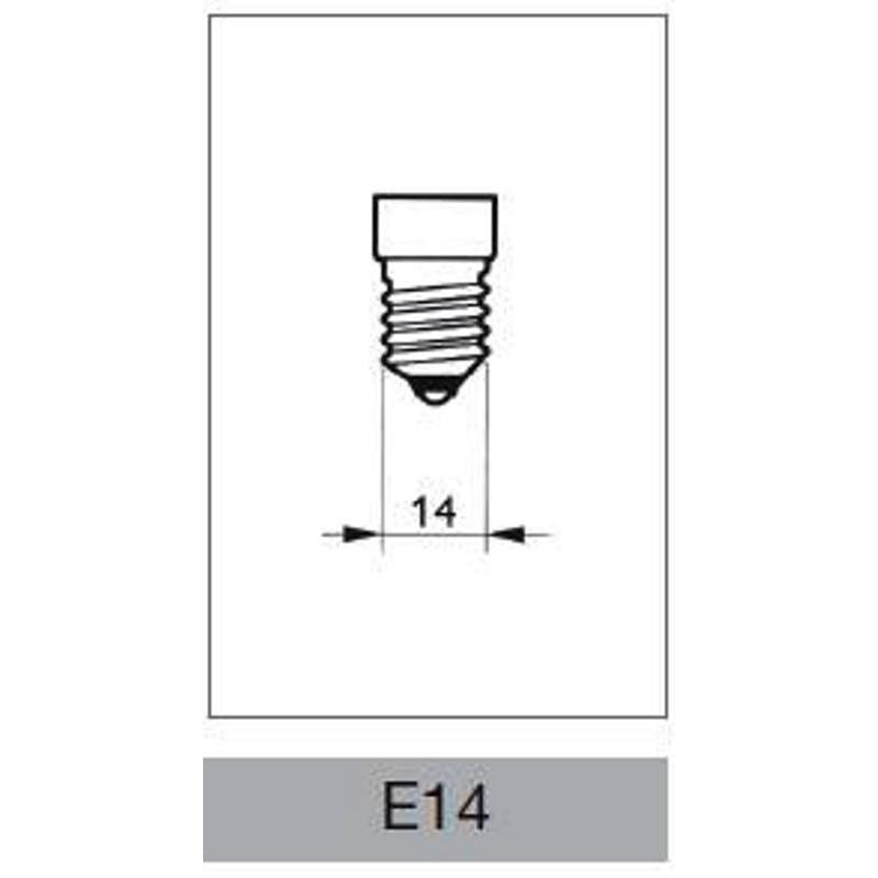 Lampada alogena oliva 18w e14 philips for Lampada tubolare led