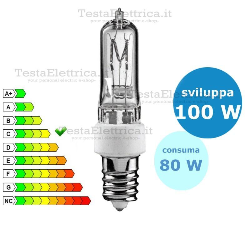 Lampada led e14 for Lampada tubolare led