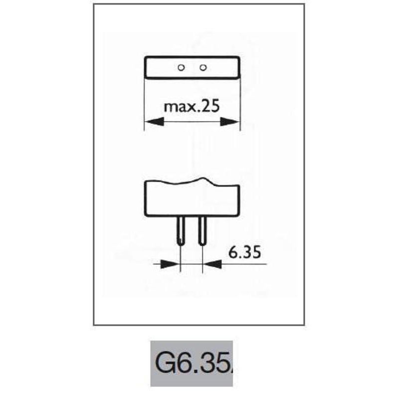 lampadina alogena g : Lampadina alogena Bispina 50W 12V GY6.35 wiva