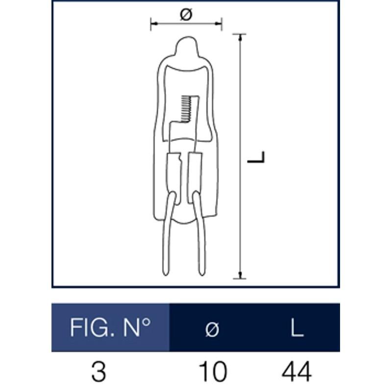 lampadina alogena g : Lampadina alogena Bispina 20W 12V G4 Wiva