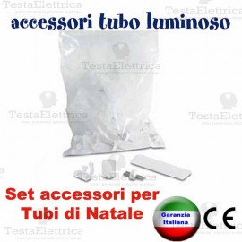 Set di accessori per tubo luminoso di natale rosachristmas for Tubi luminosi led