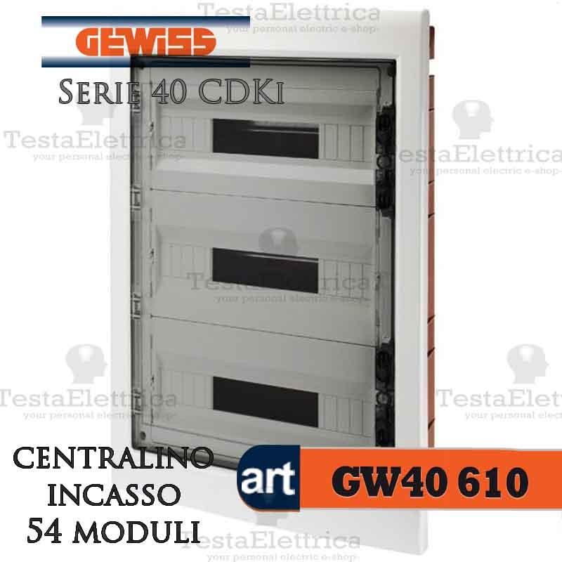 Centralino 72 moduli per quadri elettrici incasso 40611 gewiss for Quadro esterno 72 moduli