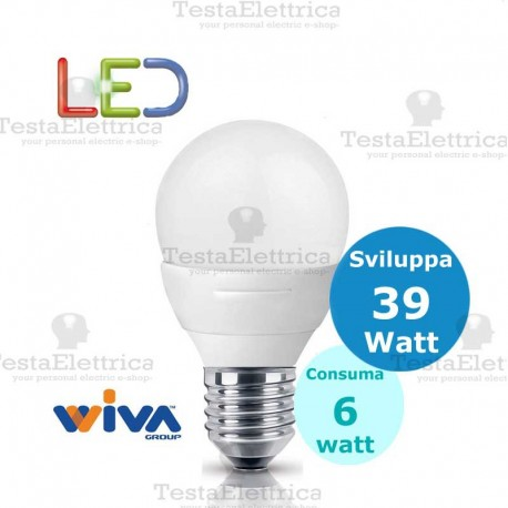 lampadina watt : ... Led attacco E27 e E14 > Lampadina a led goccia 4 Watt E27 Basic Wiva