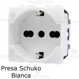 presa schuko compatibile con serie LivingLight Bianca