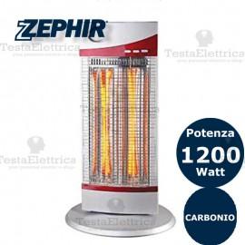 Stufa al carbonio 2 elementi 1200w Zephir