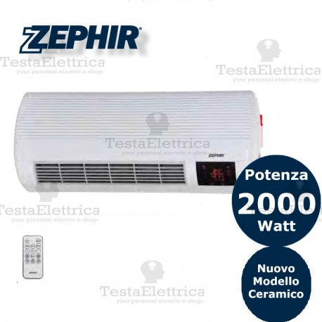 ZEPHIR TERMOCONVETTORE CERAMICO DA PARETE CON TELECOMANDO 2000W