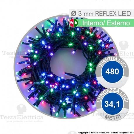Catena di natale a reflex led Multicolore