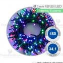 Serie da 480 reflex LED Multicolore per interno ed esterno