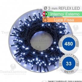 Serie da 480 reflex LED bianco freddo per interno ed esterno