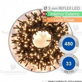Serie da 480 reflex LED bianco naturale per interno ed esterno