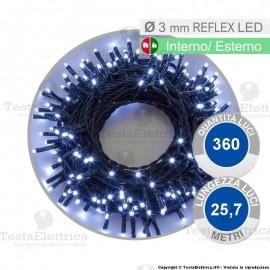 Serie da 360 reflex LED bianco freddo per interno ed esterno