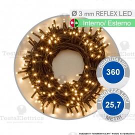 Serie da 360 reflex LED bianco caldo per interno ed esterno