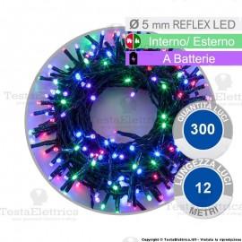 Serie da 300 reflex LED Multicolore a batterie per interno ed esterno