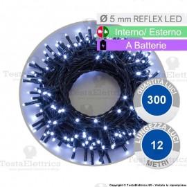 Serie da 300 reflex LED bianco freddo a batterie per interno ed esterno