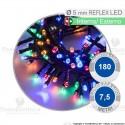 Serie da 180 reflex LED Multicolore per interno ed esterno