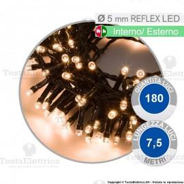 Serie da 180 reflex LED bianco naturale per interno ed esterno
