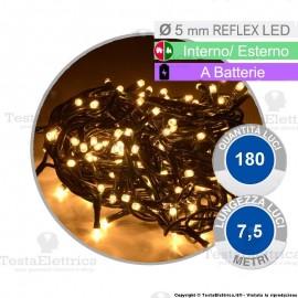Serie da 180 reflex LED Bianco Caldo a batterie per interno ed esterno
