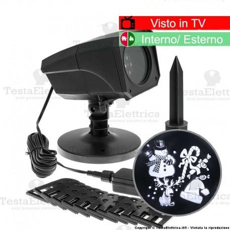 Proiettore Luci Natalizie Visto In Tv.Proiettore Natalizio A Led 12 Temi Selezionabili Ad Immagini Rotanti