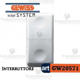 GW20571 - Interruttore bianco  Gewiss System