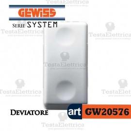 Deviatore bianco Gewiss System GW20576