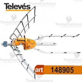 Antenna UHF ELLIPSE BOSS Tforce televes + alimentatore (incluso)