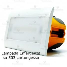 Lampada d' emergenza LED per 503 cartongesso (scatola inclusa)
