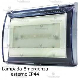 Lampada d' emergenza LED completa di custodia IP44