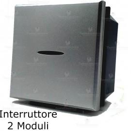 interruttore 2 moduli compatibile bticino axolute tech