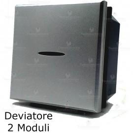 deviatore 2 moduli grigio bticino axolute compatibile