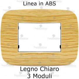 Placca Legno Chiaro 3,4 e 6 moduli n ABS compatibile con serie Bticino Axolute