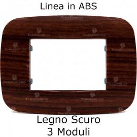 Placca Legno scuro 3,4 e 6 moduli in ABS compatibile con serie Bticino Axolute