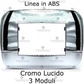Placchetta compatibile bticino Axolute cromo lucido