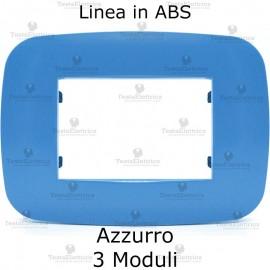 Placca Azzurra 3,4 e 6 moduli in ABS compatibile con serie Bticino Axolute
