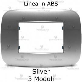 Placchetta compatibile bticino Axolute silver