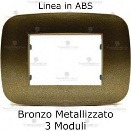 Placca Bronzo Metallizzato 3,4 e 6 moduli in ABS compatibile con serie Bticino Axolute