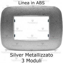 Placca Silver Metallizzato 3,4 e 6 moduli in ABS compatibile con serie Bticino Axolute