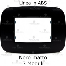 Placca Nero Matto 3,4 e 6 moduli in ABS compatibile con serie Bticino Axolute