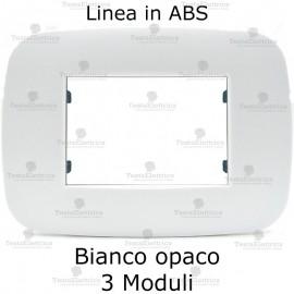 Placca Bianco Opaco 3,4 e 6 moduli in ABS compatibile con serie Bticino Axolute