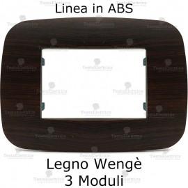 Placca Wengè 3,4 e 6 moduli in ABS compatibile con serie Bticino Axolute