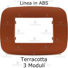 Placca Terracotta 3,4 e 6 moduli in ABS compatibile con serie Bticino Axolute