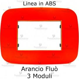Placca Arancio Fluò 3,4 e 6 moduli in ABS compatibile con serie Bticino Axolute