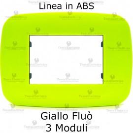 Placca compatibile bticino Axolute giallo fluorescente