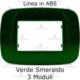 Placca compatibile bticino Axolute verde smeraldo