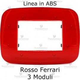 Placca Rosso Ferrari 3,4 e 6 moduli in ABS compatibile con serie Bticino Axolute