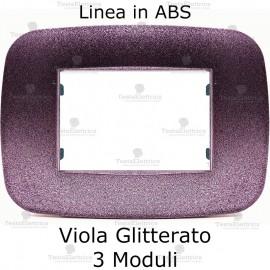 Placca Viola Glitterato 3,4 e 6 moduli in ABS compatibile con serie Bticino Axolute