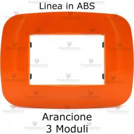 Placca Arancione 3,4 e 6 moduli in ABS compatibile con serie Bticino Axolute