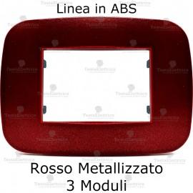 Placca Rosso Metallizzato 3,4 e 6 moduli in ABS compatibile con serie Bticino Axolute