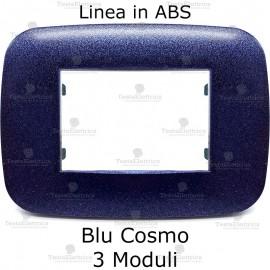 Placca Blu Cosmo 3,4 e 6 moduli in ABS compatibile con serie Bticino Axolute