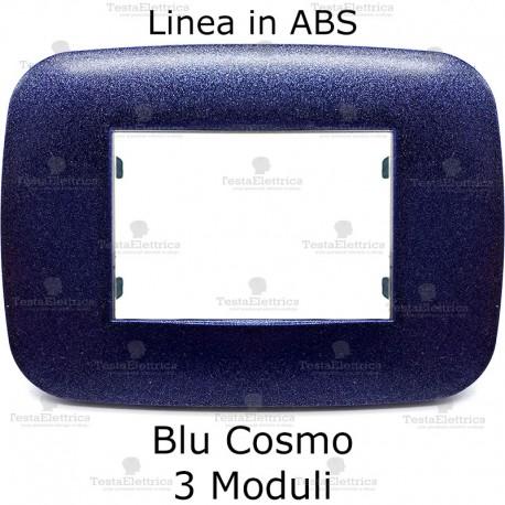 Placca compatibile bticino Axolute Blu Cosmo