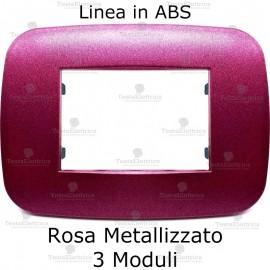 Placca Rosa Metallizzato 3,4 e 6 moduli in ABS compatibile con serie Bticino Axolute